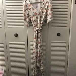 American Eagle AE maxi floral wrap dress